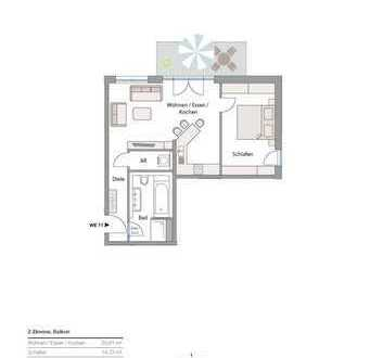 Neubau in Göggingen - exkl. 2 Zi-Whg. mit Balkon + TG! zentrale Lage!