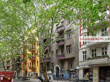 IMMOBERLIN.DE - Top-Kiezlage! Große Altbauwohnung mit faszinierendem Potential