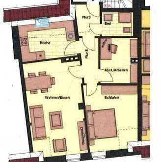 Vermietung - Zentrale Lage! 2-Zimmer-Dachgeschosswohnung in zentraler Lage von Borken