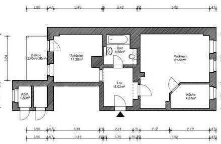 Modernisierte 2-Zimmer-Wohnung mit Balkon in Dresden