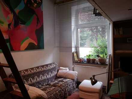 Bohemian Style , Hochbett, TV-WLAN, Büromöglichkeit, moderner Kleiderschrank, Regal, Kühlschrank,