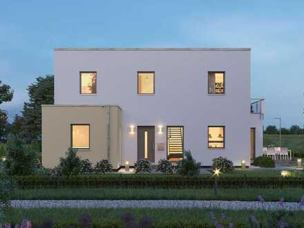 Haus (Flachdach, elegant, jede Menge Platz) sucht Baufamilie (kreativ, individuell, Macher)