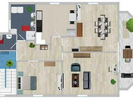 Neuwertige 3-Zimmer-DG-Wohnung mit Balkon in Ulm-Donaustetten