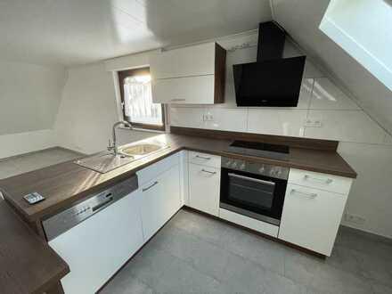 Vollständig renovierte 2-Zimmer-DG-Wohnung mit EBK und Klimaanlage in Schwaikheim