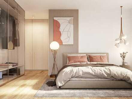 Stilvolle 2-Zimmer-Wohnung mit Ankleide und großem Süd-Balkon in vornehmem Umfeld