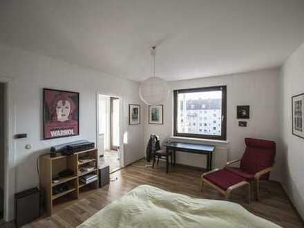 helle 1 Zi-Wohnung mit 6 qm Südbalkon