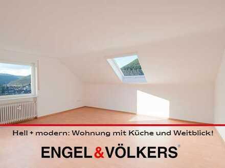 Hell + modern: Wohnung mit Küche und Weitblick!