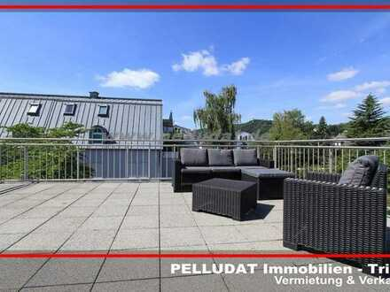 Trier - Maarviertel: Möblierte 2 ZKB Wohnung mit 70 m² WFL und großer Dachterrasse