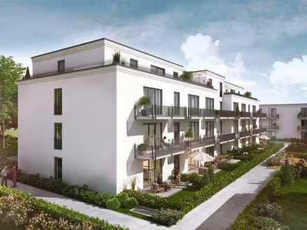 2-Zi.-Wohnung mit Gartenterrasse und positiver Energiebilanz an zukunftsorientiertem Standort