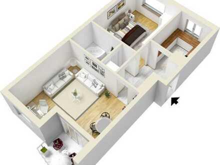 Vollständig renovierte 2-Zimmer-Wohnung mit Balkon und Einbauküche in Hamburg-Wandsbek