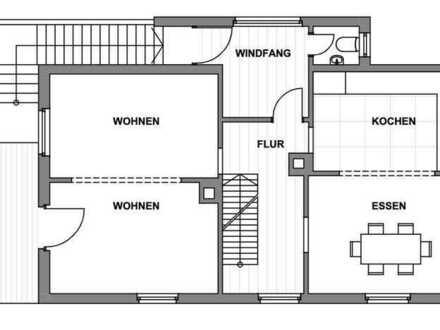 Gepflegte 4-Raum-Maisonette-Wohnung mit Balkon und Garten in Reichartshausen