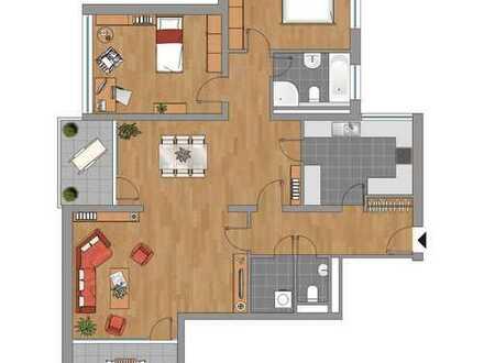 Sonnige 3,5-Zimmer-Wohnung mit Balkon und EBK in Bietigheim-Buch