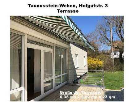 Freistehender Einfamilienhaus-Bungalow mit vier Zimmern in Taunustein-Wehen