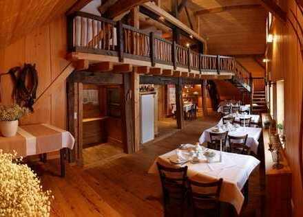 Gaststätte mit Gartenwirtschaft & Hotelzimmern in idyllischer Höhenlage