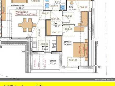 *Projektiert* DG-Wohnung Nr.9 mit Balkon und TG-Stellplatz - Barrierefreie & behindertengerecht *