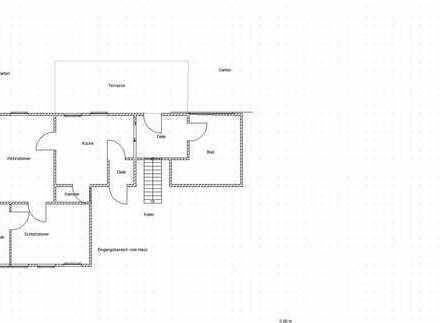 Bockelwitz, 2 Zi, begehbarer Kleiderschrank, Terrasse, Garten, Gewölbekeller