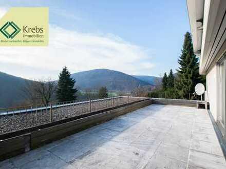 Neckarsteinach: Große Terrassenwohnung mit gigantischem Blick auf Neckar und Burgen