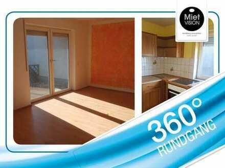 Gemütliche und große 2-Raum-Wohnung im EG mit Terrasse und EBK!!!!