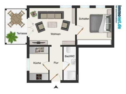 Ruhig gelegene Wohnung in der Töpferstadt Waldenburg! 2-Raumwohnung!
