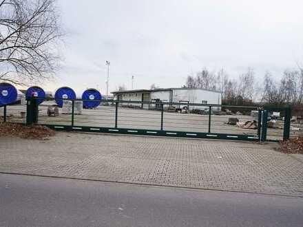 Freilagerfläche mit Halle für alle Tätigkeiten/TEILBAR ab 100m2-Gewerbe-/ Industriepark an der B 96
