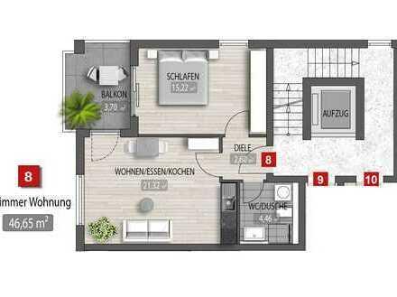 Am Puls der Zeit: Exklusive 2-Zimmer-Neubau-Wohnung in Top-Lage