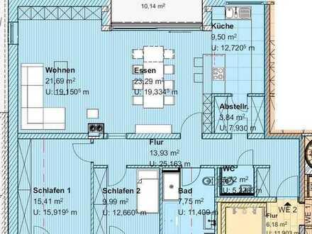 Traumhafte, großzügige 3 - Zimmer Gartenwohnung mit herrlicher Süd-Terrasse und eigenem Gartenanteil