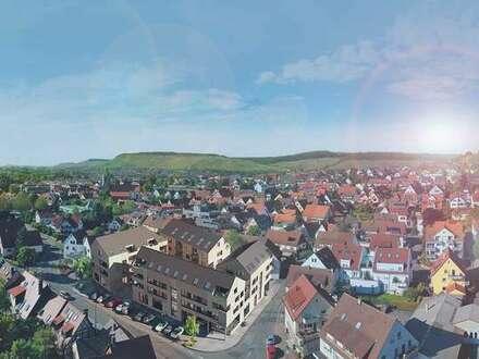 3-Zi.-Wohnung mit Balkon + KfW-55 in idyllischer Umgebung und nur ~15km bis Stuttgart