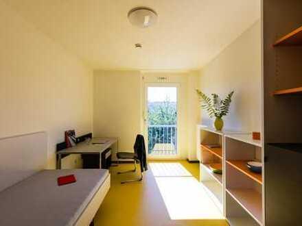 Möbliertes Zimmer in 8er WG im Studentenwohnheim Rossneckar II