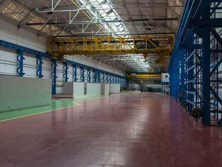 Vermiete Produktions- und Lagerflächen mit 200 to Kran + 60 to Kran