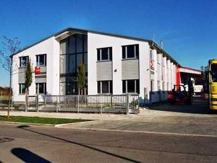 Alleinstehendes, repräsentatives Gewerbeobjekt Lager/Produktionshalle mit Büro 1.500 m².