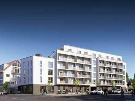 Neubau/Erstbezug: Möblierte 1-Zimmer-Wohnung mit EBK im Ortskern von Echterdingen