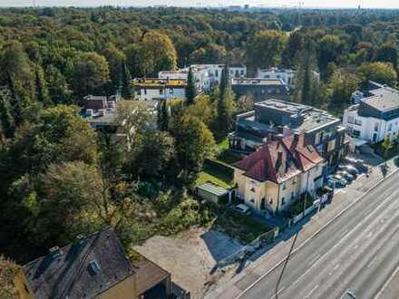 Perfekt angebundenes Grundstück von 544 m² mit genehmigter Mehrfamilienhaus-Planung Nähe Schlosspark