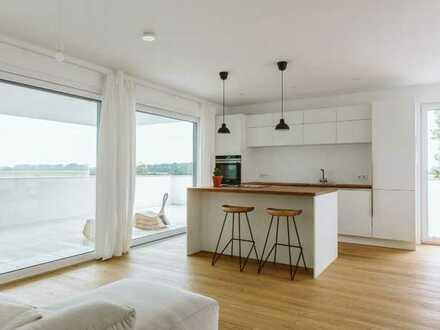LUXUS - 4-Zimmer-Penthousewohnung! Barrierefrei und lichtdurchflutet mit einmaligem Ausblick!
