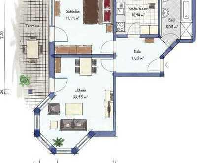 Helle Terrassen-Wohnung in Toplage
