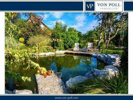 VON POLL Charmantes Einfamilienhaus mit Außenpool und Blick ins Grüne
