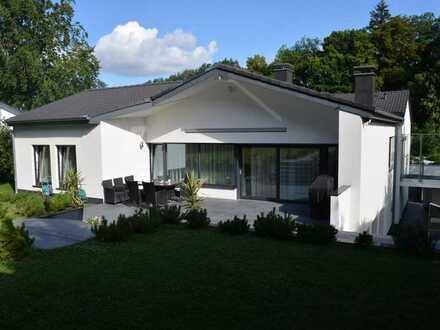 Elegantes Einfamilienhaus mit Schwimmbad, Wellness und viel Platz in ruhiger Wohnlage KA-Bergwald