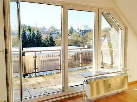 Tolle Dachgeschosswohnung mit großer Terrasse und Fernsicht