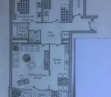 Columbuscenter - 13. Etage: 3-ZKB mit EBK und Balkon