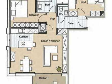 Schicke 3-Zimmer Neubauwohnung