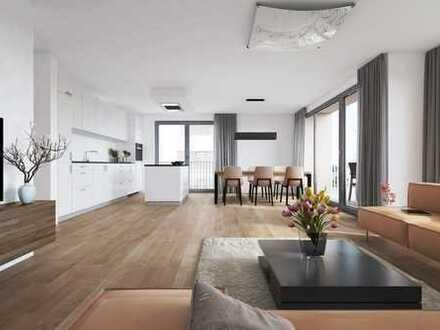 4 Zimmer Wohnung und deutlich mehr. Mitten in der Stadt. Mit viel Grün drumherum.
