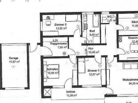 Modernisierte 5-Raum-Erdgeschosswohnung mit Balkon +Terrasse und Einbauküche in Achstetten