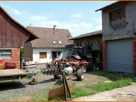 Älterer Bauernhof mit außenliegenden Stallungen und landwirtschaftlichen Flächen in Oberzell