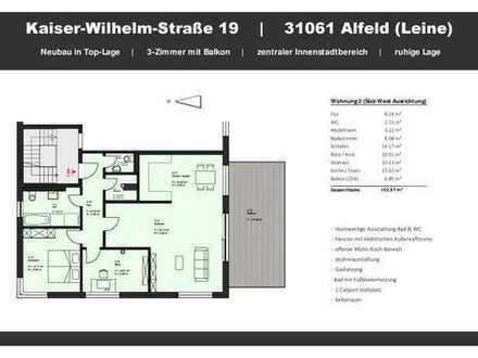 Erstbezug: freundliche 3-Zimmer-Wohnung mit Balkon in Alfeld (Leine)