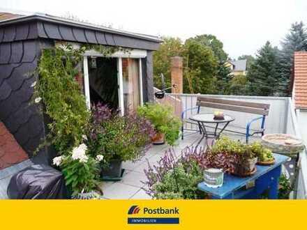 Vermietete Wohnung mit großer Dachterrasse!