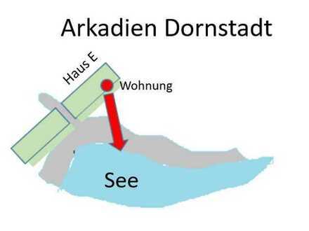 Neubau, Erstbezug, 2,5-Zimmer-Wohnung mit Seeblick in Ulm/Dornstadt