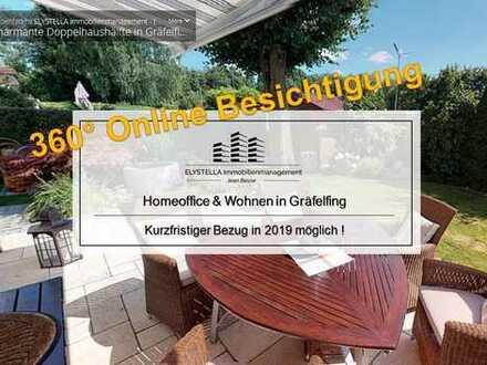 Top gepflegte und sehr helle Doppelhaushälfte in Gräfelfing