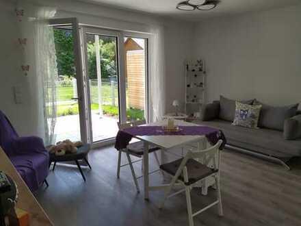 Neubau 1-Zimmer-Wohnung mit Garten zentral Nähe S-Bahn in ruhiger Sackgasse