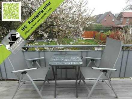 Schöne kern sanierte Wohnung mit Balkon und schönem Garten in Emsdetten