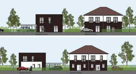 Osternburg – Neubau Einfamilienhaus und Doppelhaus mit Carports