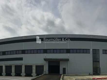 """BAUMÜLLER & CO."" - Neubau Logistikhalle - 5.000 m² Rampenlager - sehr gute BAB-Anbindung"